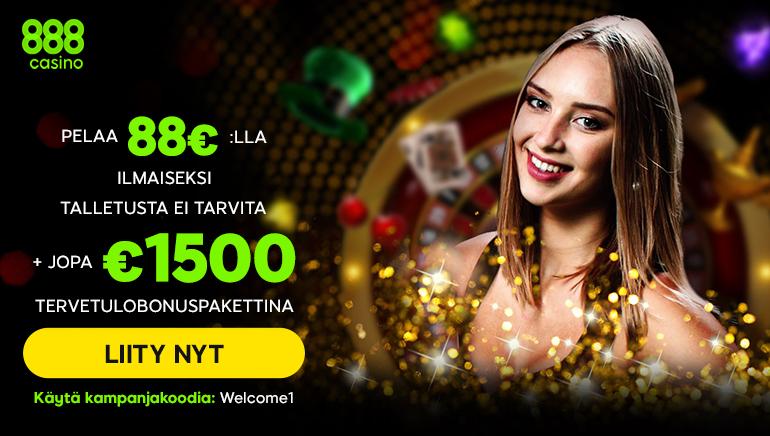 888 Casino Ripottelee Paljon Bonuksia Tervehtiäkseen Suomalaisia Pelaajia