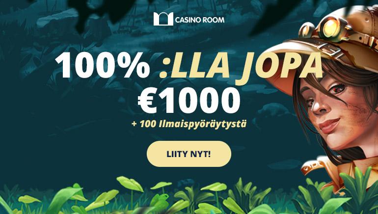 1,500€ Tervetuliaisbonus Tarjolla Casino Room:lla