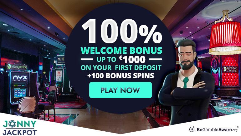 Nappaa 1000€ tervetuliaisbonus Jonny Jackpotiin