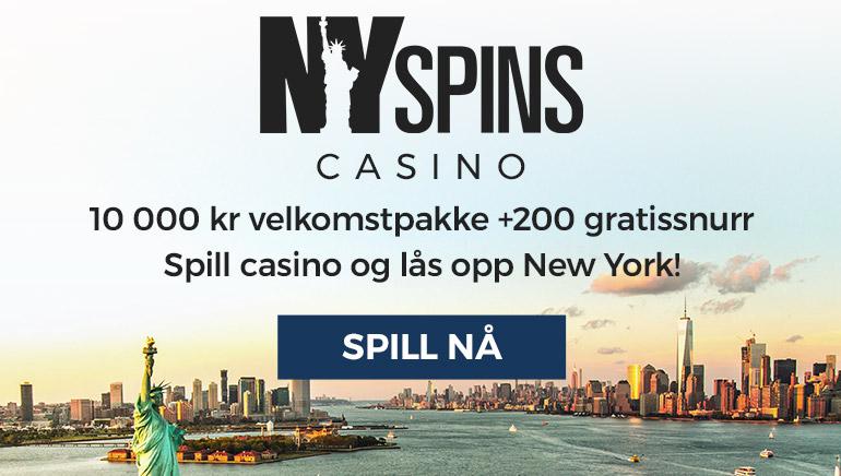 Kaikki on isompaa NY Spins Casinon tervetuliaistarjouksessa