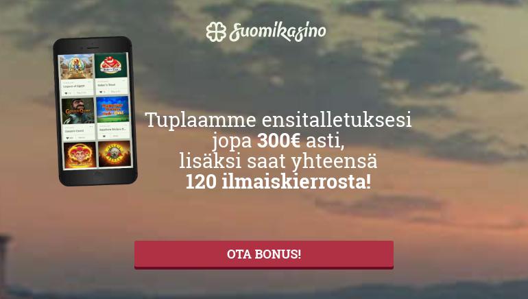 Suomi Kasino Tervehtii Sinua Bonus ja Ilmaiskierros Tervetuliaisella