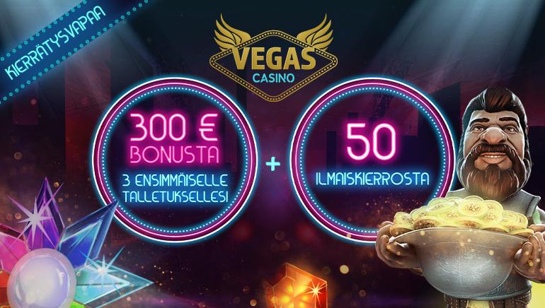 VegasCasino toivottaa suomalaiset pelaajat tervetulleiksi Kierrätystervetuliaisbonuksella