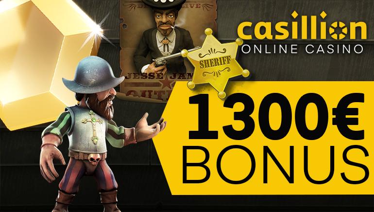 Aloita pelit tyylillä Casillion Casinon tervetuliaisbonuksella