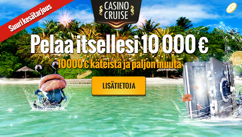 Casino Cruise tarjoaa €10,000 ilmaiseksi kesäkuussa