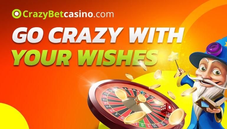 Crazy Bet Casino - TERVETULOBONUS €300 150% Talletusbonus + VAPAIDEN KIERROSTEN BONUS 20 Ilmainen slottibonus