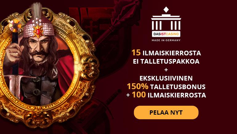 Nappaa 150% Bonus ja 115 Ilmaiskierrosta Daslst Casinolta