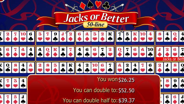 50-Line Jacks or Better
