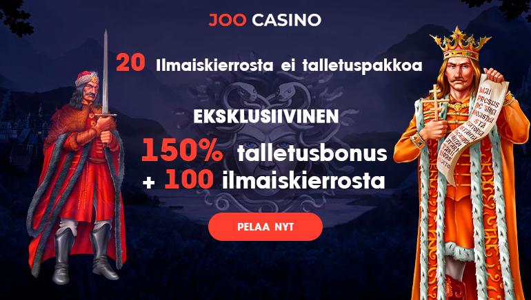 Aloita 2020 Pamauksella Joo Casinon 150% Bonuksella 100 € Asti & 100 Ilmaiskierrosta