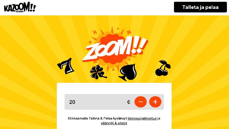 Kazoom Casino lanseeraa Suomessa