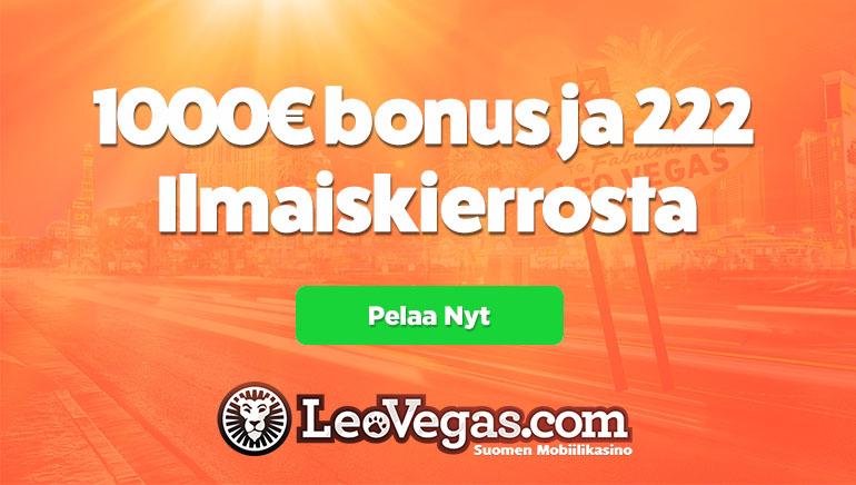 LeoVegas Casino toivottaa todella tervetulleeksi