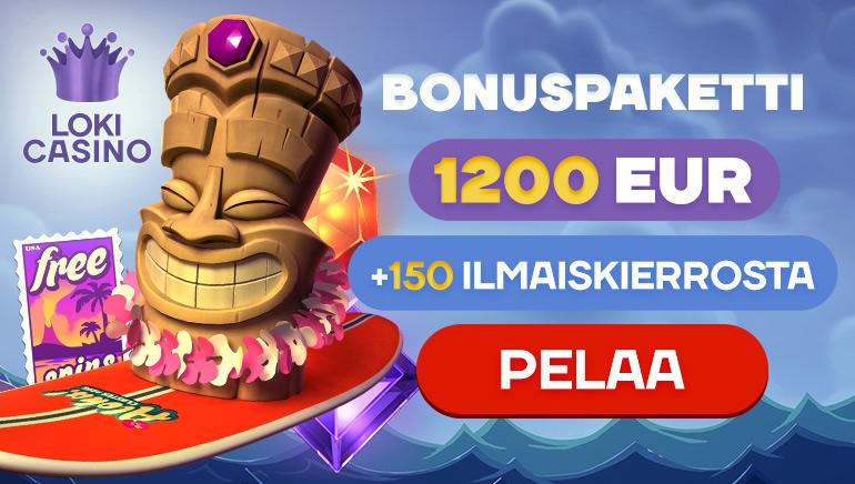 Hanki 150 ilmaiskierrosta ja tuntuva tervetuliaisbonus Loki Casinolle