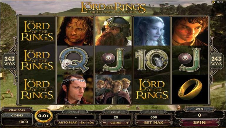 Lord of the Rings, Live Jackpot City