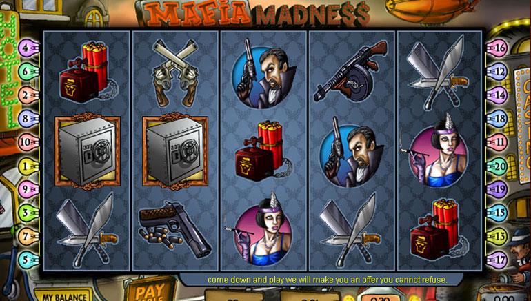 Mafia Madness - 100 ilmaista pyöräytystä