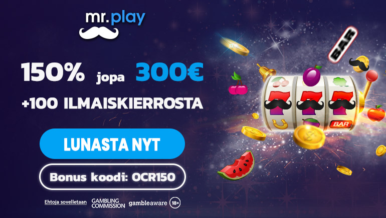 Lunasta tuntuva tarjous mr.play Casinolta