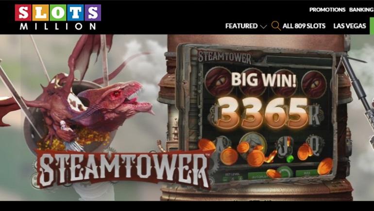 Slots Million Kasino avaa ovet yli 800 kolikkopeliin