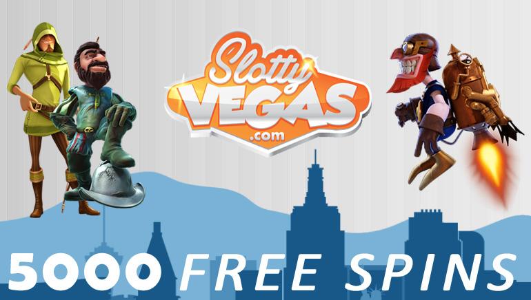 5000 Vapaapeliä Slotty Vegas Facebook Faneille