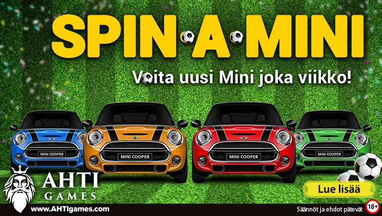 Koe maailmancup AHTI Gamesin kanssa & voita upouusi Mini Cooper