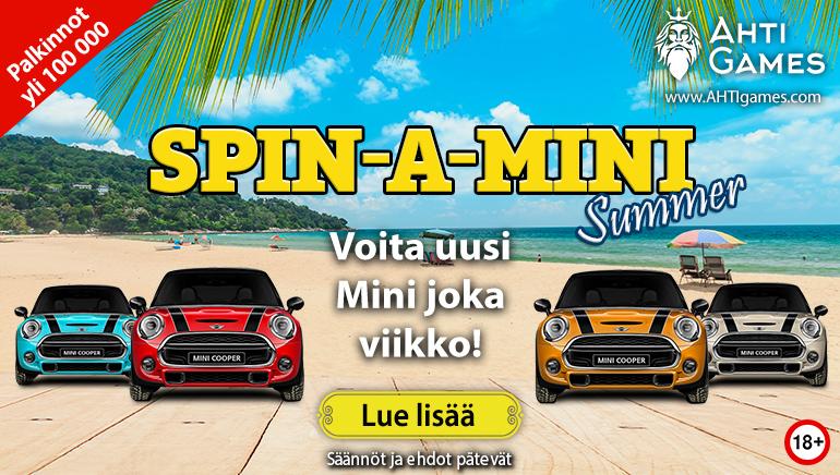Voita tuliterä auto tässä kuussa AHTI Gamesin Spin-A-Mini-kilpailussa
