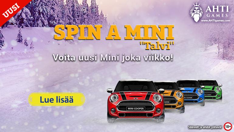 """Osu AHTI Games Casinon """"Spin a Mini"""" -promossa voittoon ja aloita 2019 uudella autolla"""