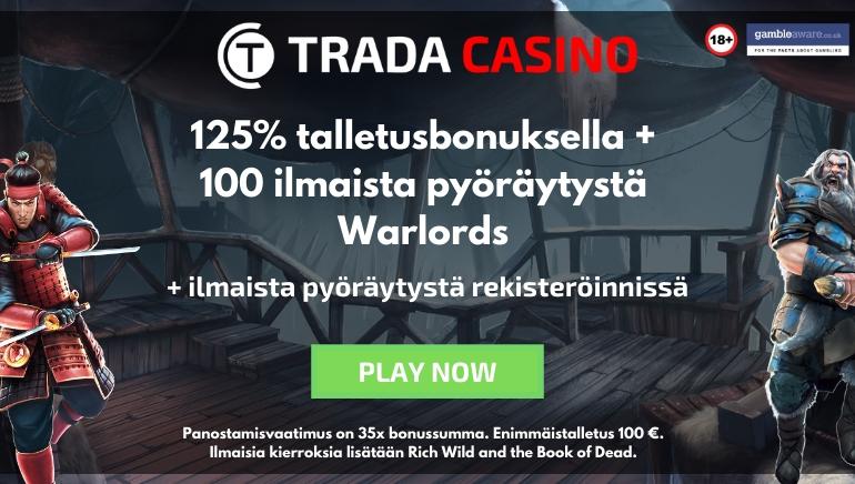 Trada Casino Tarjoaa 125% Bonuksen ja 110 Ilmaiskierrosta Vuodelle 2020
