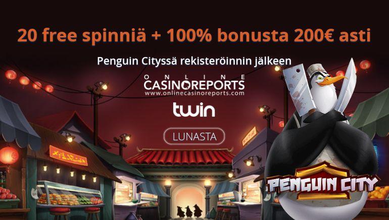 Twin Casino paiskoo promoja Online Casino Reports -pelaajille