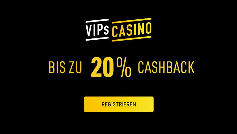 Jopa 20% Viikottainen Rahat Takaisin Takuu on Tarjolla VIPs Casinolla