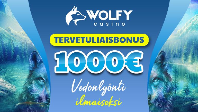 Wolfy Casino - €1000 TERVETULIAISBONUS, vedonlyönti ilmaiseksi